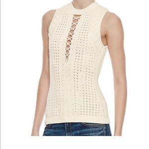 Ronny Kobo Lace Up Top